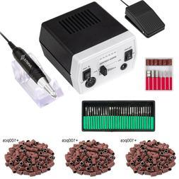 30000RPM Electric Nail File Drill Bits Sanding Block Manicur