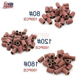 300x Sanding Bands in 3 Grits For Nail Art Electric Drill Fi