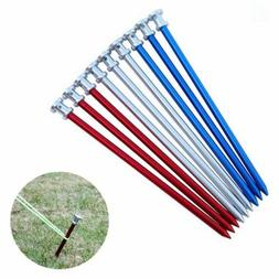 3pcs 9 inch Heavy Duty Metal Tent Stakes Pegs Hard Ground Na