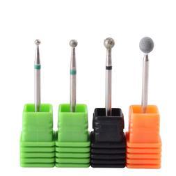 MZCMSL 4PCS Cuticle Clean Drill Bit Diamond Nail Bit Ball He