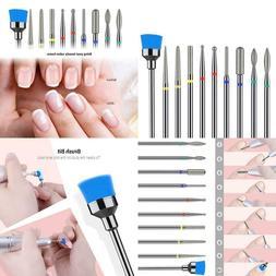 Melodysusie Diamond Cuticle Nail Drill Bits Set 10Pcs, 3/32'