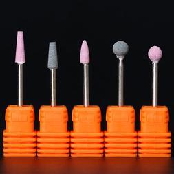 5 Patterns Electric Nail Drill Bits Quartz Orange  Griding B