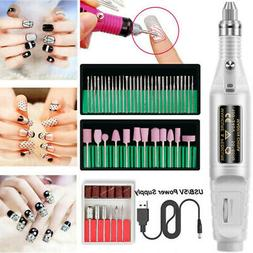Electric Nail Drill Pen Shape Set Kits Compact Portable For