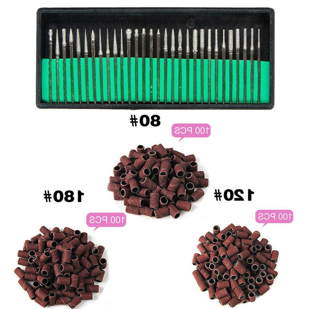 30pcs nail art polishing drill bits 3