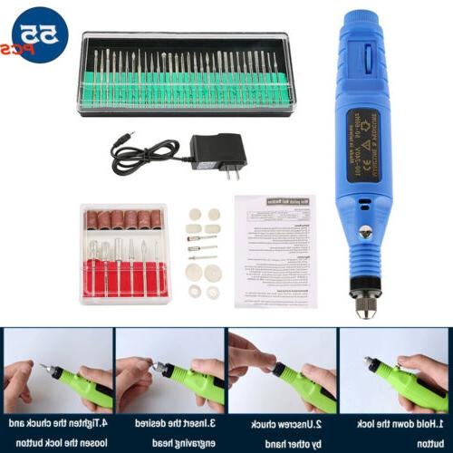 55pcs electric grinder engraving pen grinding milling