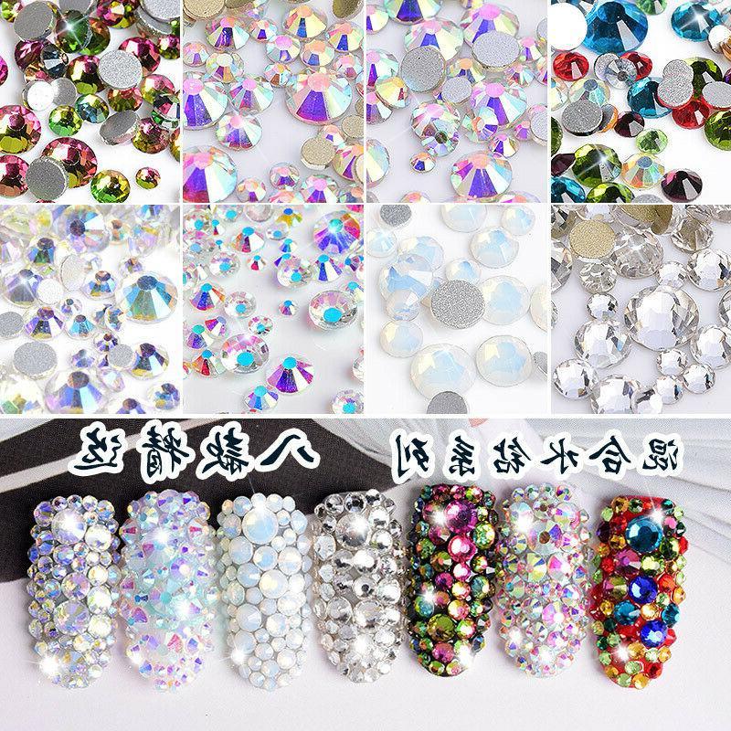 600pc charm nail art diamond drills flat