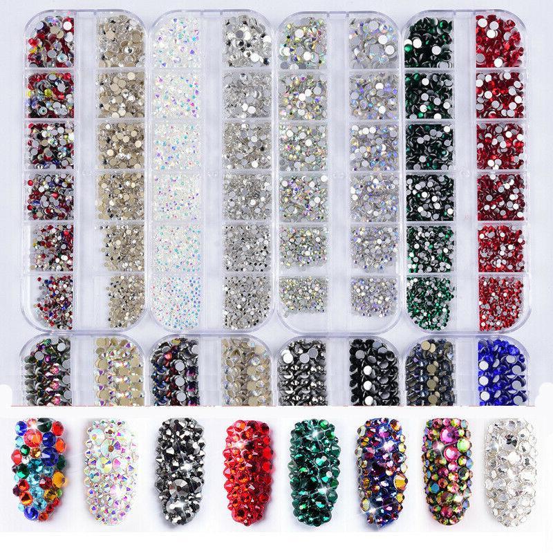 boxed charm nail art diamond drills flat