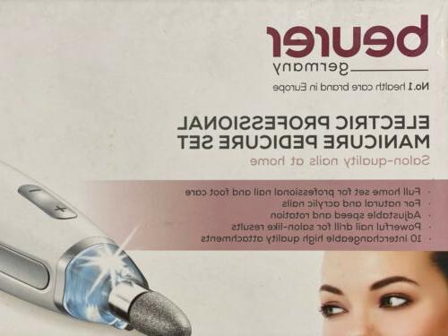 electric manicure and pedicure kit with nail