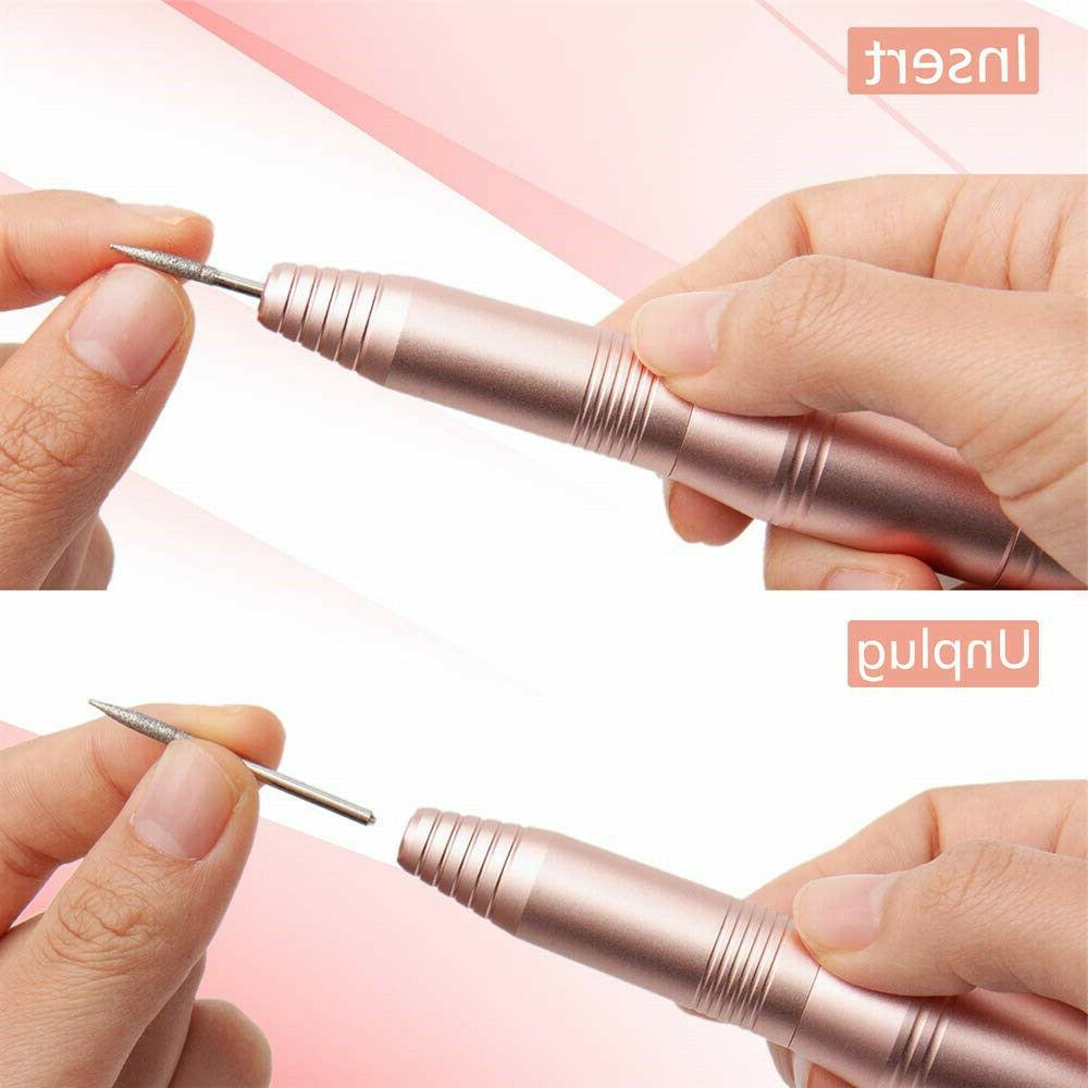 Electric Drill Manicure File Kit Portable Acrylic Gel