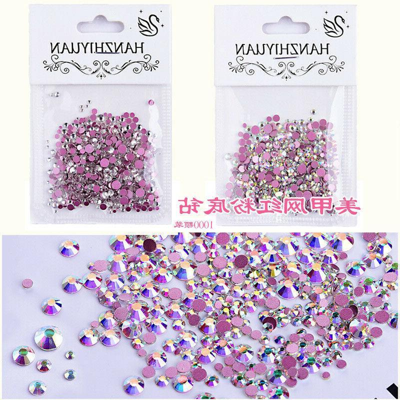 mixed charm nail art diamond drills pink