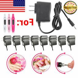 LOT AC Adapter For Nail File Drill Electric Manicure Pedicur