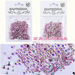Mixed Charm Nail art Diamond Drills Pink Flat Decals Rhinest