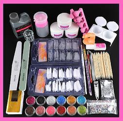 Nail Art Tool Kit Manicure Set Pro Acrylic Kit With Drill Ma