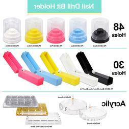 PANA High Quality Plastic Nail Carbide Drill Bits Holder Sta