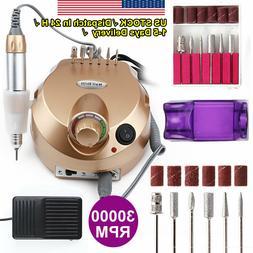 Nail File 30000RPM Electric DRILL File Acrylic Pedicure Poli