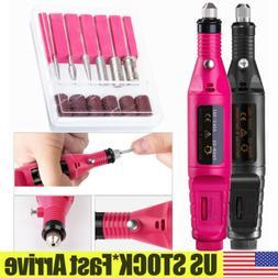 Nail File Drill Tools Electric Manicure Pedicure Acrylic Por