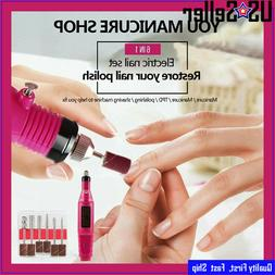 New Electric Nail File Drill Portable Professional Manicure