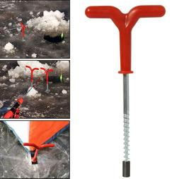 Outdoor Screw Fixed Nail Ice Auger Spiral Drill Rod Holder F