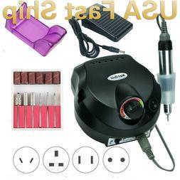 Pro 35000RPM Electric Nail Drill Machine Manicure Set Pedicu