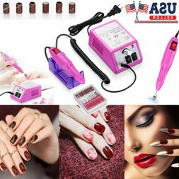 Professional Electric Manicure Pedicure Kit Drill File Nail