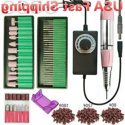 USA 35000/20000RPM Electric Nail Drill Machine Manicure Pedi